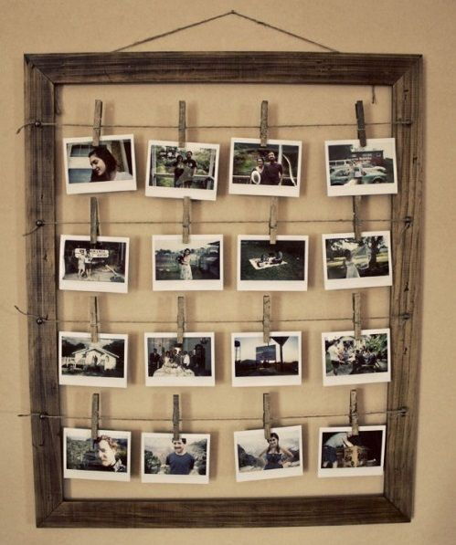 Rustic DIY Photo Display Frame | DIY Cozy Home                                                                                                                                                                                 Mais