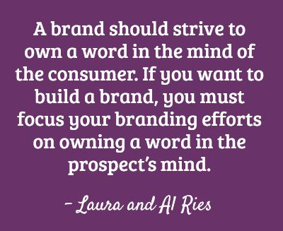 The Law of the Word for brand strategy