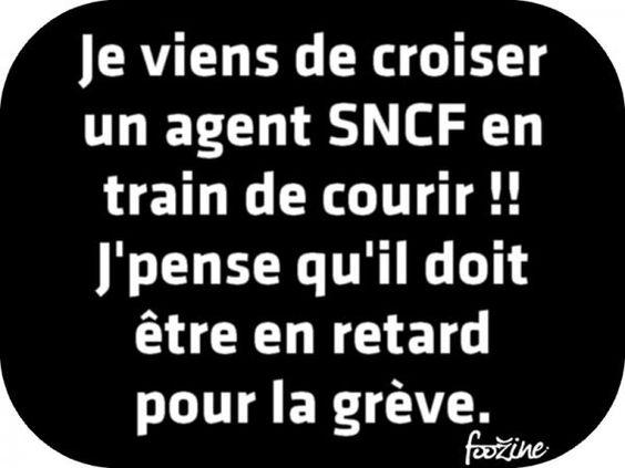 Je viens de croiser un agent SNCF en train de courir !!