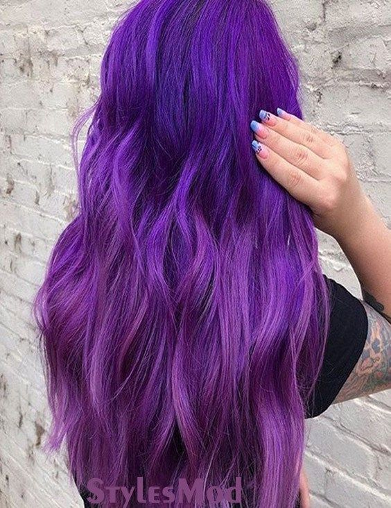 Marvelous Purple Hair Color Ideas Trends To Try In 2019 Now In The Modern Era The Hair Color Style Are Everywh Long Purple Hair Lilac Hair Hair Color Purple
