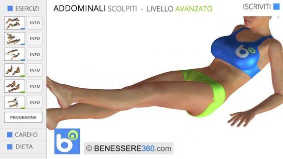 Addominali scolpiti: esercizi per addominali alti, bassi e laterali