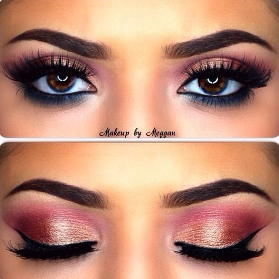 Indian Bridal Eye Makeup: Red Eyeshadow, Brown Eyes And Eyeshadow On Pinterest