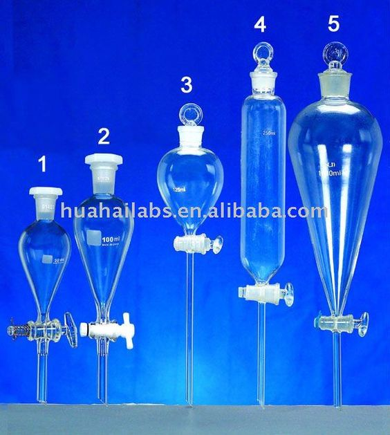 separating funnel, laboratory glassware, chemistry apparatus