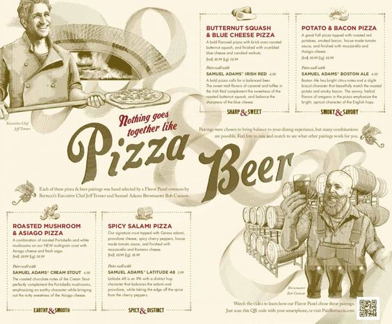 Bertucciu0027s and Sam Adams Make Seasonal Beer and Pizza Menu DC - beer menu