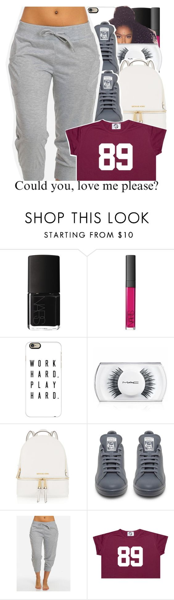 """07-02-2016."" by trillestqueen ❤ liked on Polyvore featuring NARS Cosmetics, Casetify, MAC Cosmetics, MICHAEL Michael Kors and adidas"