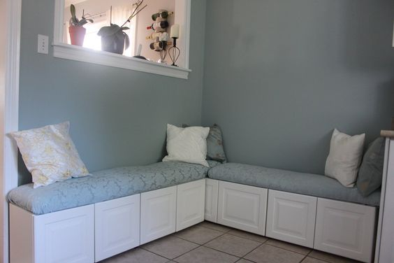 Restaurant furniture and cabinets on pinterest for Ikea kitchen banquette