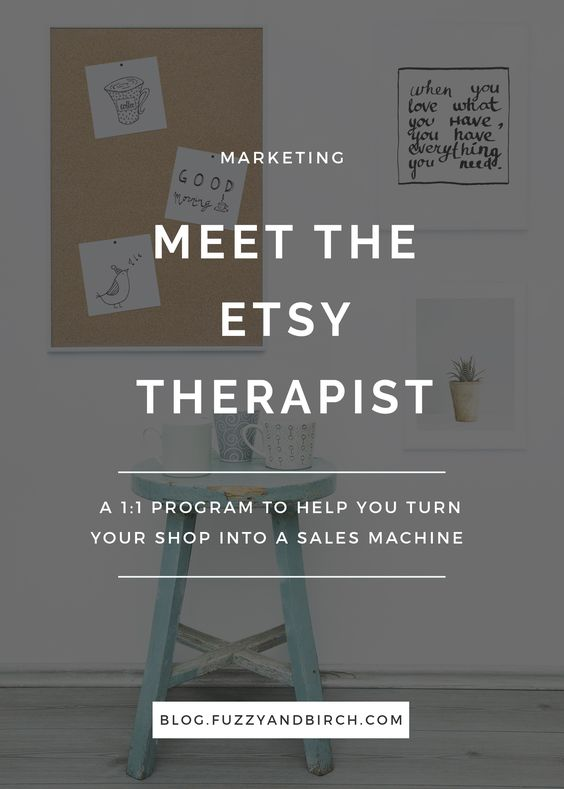 The Etsy Therapist is a 1:1 program to help you turn your shop into a sales machine. Find out how you can grow today!