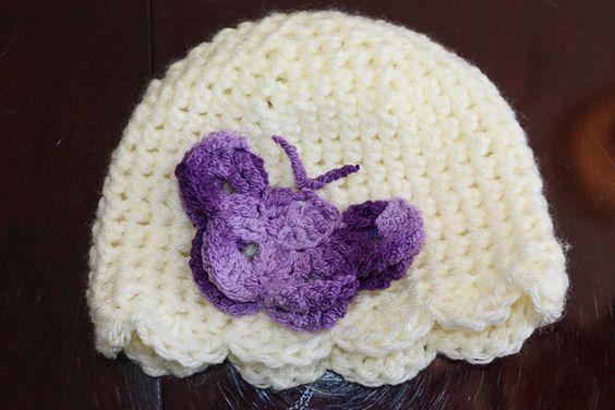 Crochet Butterfly Hat ~ free pattern ᛡ