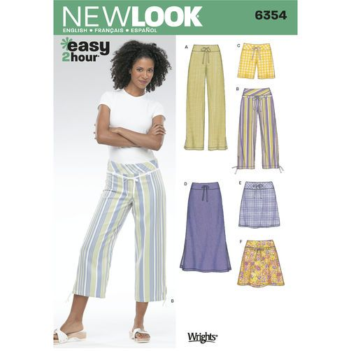 New Look Pattern 6354 Misses Pants: