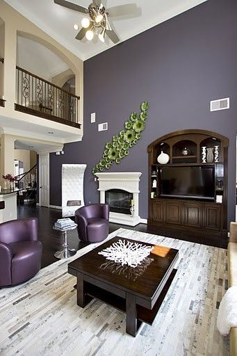 Pinterest the world s catalog of ideas for Purple and brown living room ideas