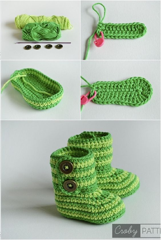 Cuddly Crochet Baby Booties – Free Pattern and Tutorial | Patrón ...