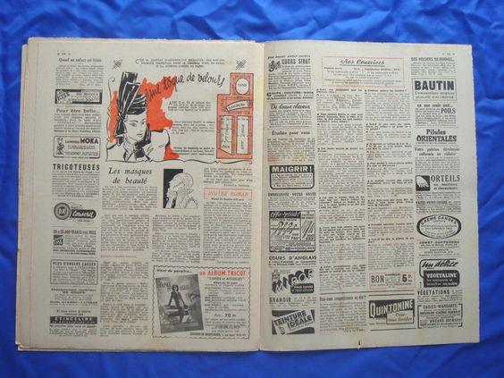 14 x vintage French LE PETIT ECHO DE LA MODE sewing pattern magazines 1950/1940s | eBay
