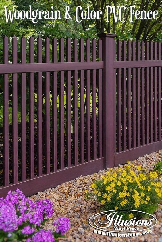 New Fence Ideas Mahogany Vinyl Fence Modern Design I 2020