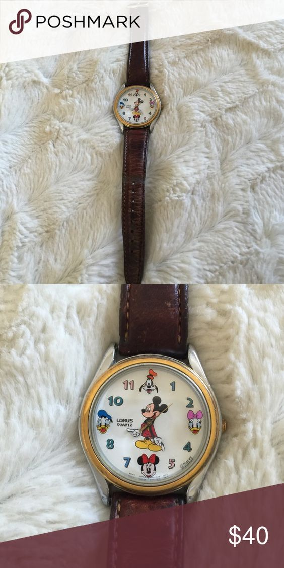 Vintage lorus Mickey Mouse watch Well loved...but still in great shape for its age!  Needs a battery...but guaranteed to work Lorus Accessories Watches