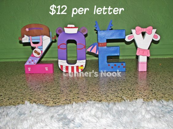 Doc Mcstuffins Character Letter Art By Gunnersnook On Etsy