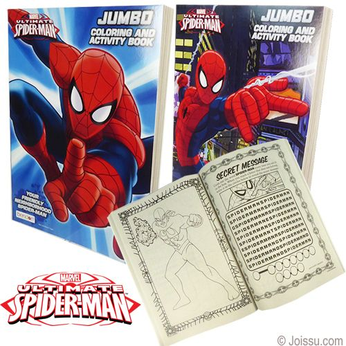 Jumbo Spiderman Coloring Activity Books With 96 Pages Of Activities And Adorable Pictures Just Begg Spiderman Coloring Drawing Kits Wholesale Party Supplies