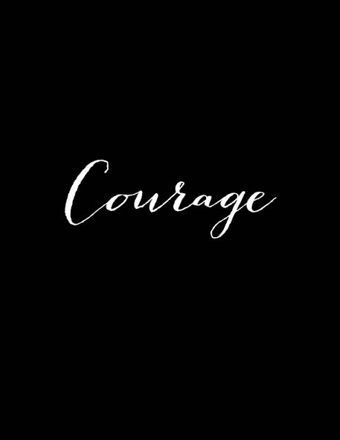 Word of the Year - Courage.