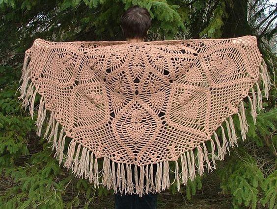Ravelry: Semi-Circle Pineapple Shawl pattern by Elaine ...