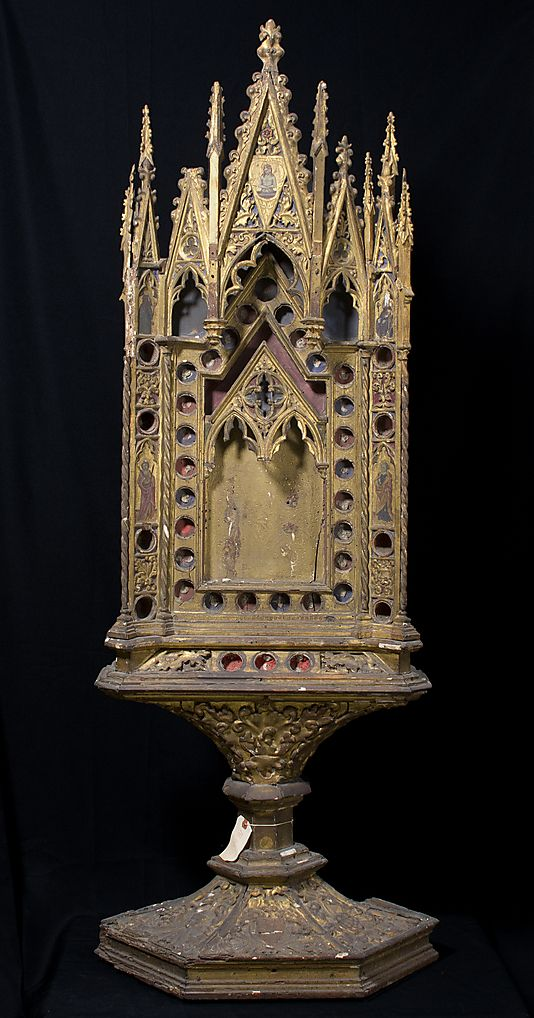 Reliquary  Date:     14th century Geography:     Made in Siena, Italy Culture:     Italian Medium:     Wood