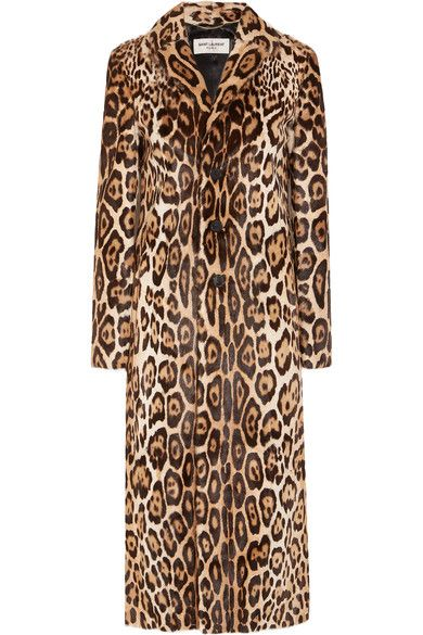 Leopard-print goat hair Button fastenings through front  100% goat hair; lining: 64% viscose, 27% wool, 9% silk Spot clean Made in Italy