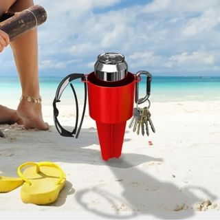 Stake in the Sand Beach Cup Holder, from HomeWetBar.com