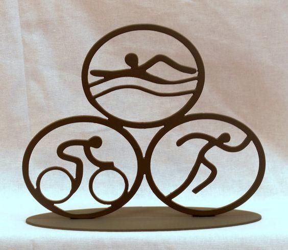 Sculpture de triathlon par BCMetalCraft sur Etsy