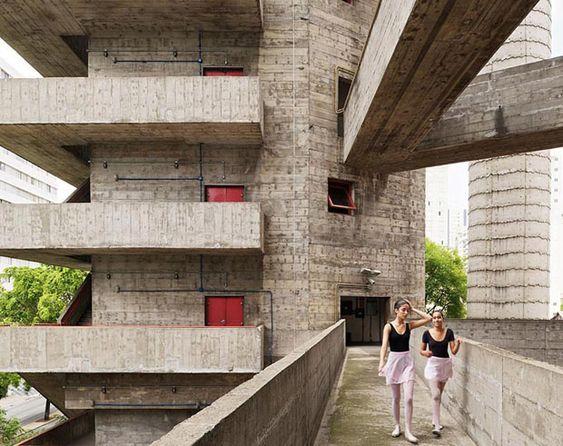 SESC Pompeia; Lina Bo Bardi, 1977. São Paulo, Brasil.