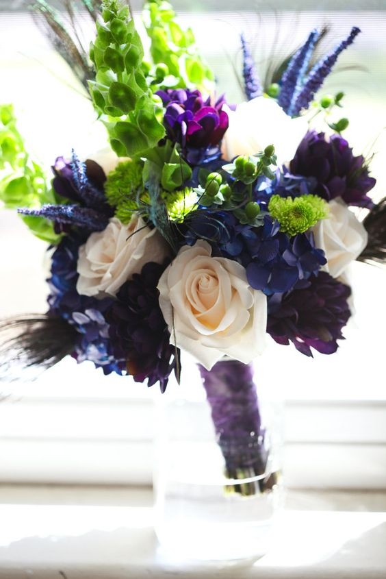my bouquet wedding jewel tones and flower