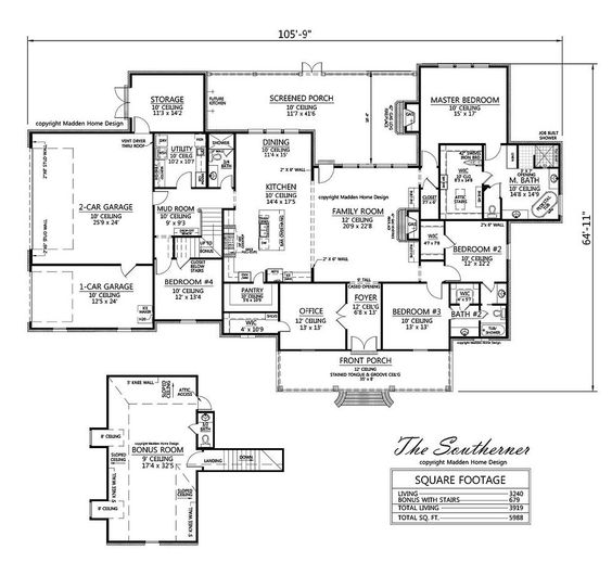 Madden home design the southerner the next house plans for Madden home designs