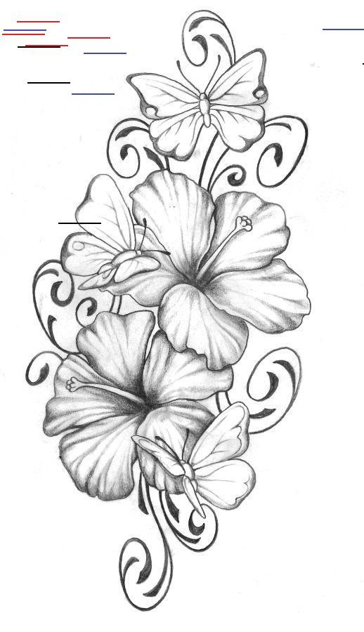 Pin By Joliedorettelanitazl On Tattoo In 2020 Hibiscus Tattoo Hibiscus Flower Tattoos Butterfly Tattoo