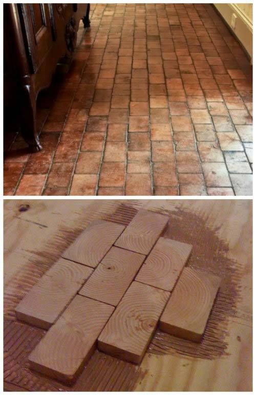 Image Only Wood Blocks Placed W Adhesive Then Grouted Can Be Sawdust From Blocks Then Cheap Hardwood Floors Hardwood Floors Rustic Hardwood Floors