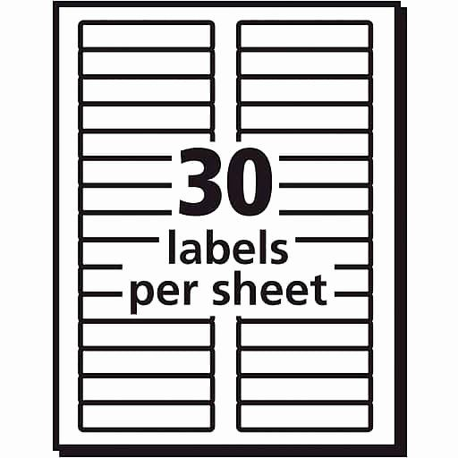 Staples Labels Templates New Avery White Removable File Folder Labels 750 Pack 8066 Folder Labels File Folder Labels Avery Label Templates