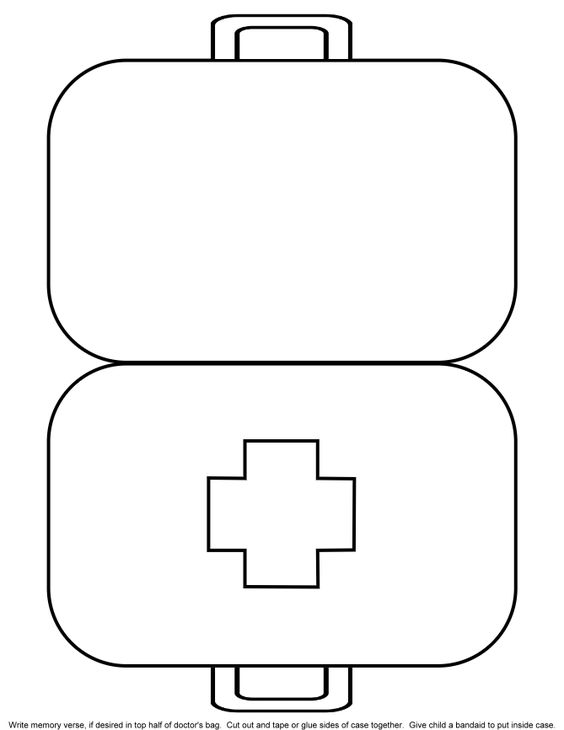 kids coloring pages doctor kit - photo#18