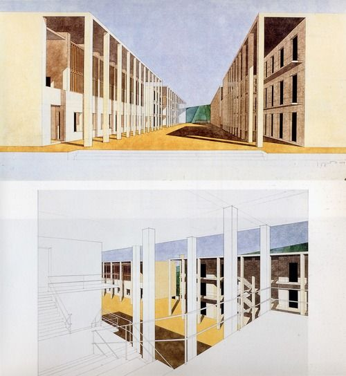 Casa-dello-studente_Giorgio Grassi_1976_Chieti, Rome