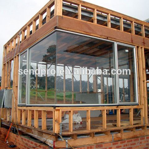 Soundproof Large Size Fixed Aluminum Corner Glass Window Find Complete Details About Soundproof Larg Framing Construction House In The Woods Building A House