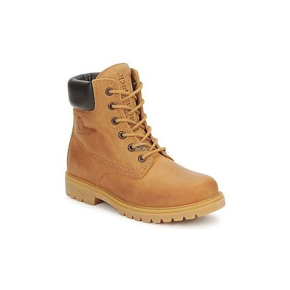 Panama Jack PANAMA Mid Boots (€165) ❤ liked on Polyvore featuring shoes, boots, women, yellow, yellow leather shoes, leather boots, real leather shoes, leather shoes and yellow shoes