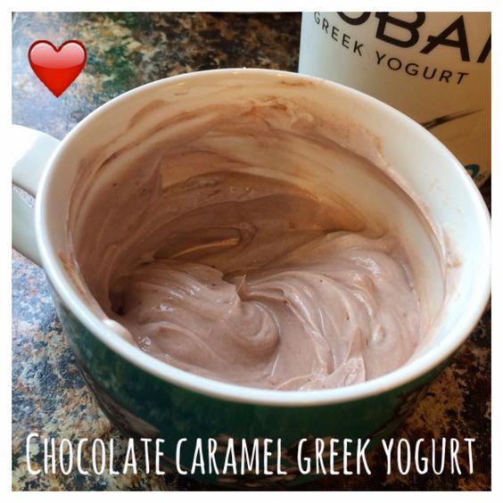 Di's Food Diary 21 Day Fix Approved Recipes = Chocolate Caramel Greek Yogurt