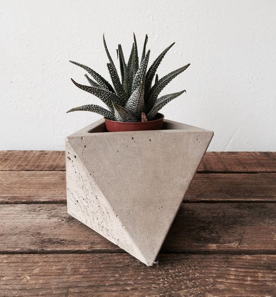 Octahedron Concrete Planter available at Housekeeping Store.