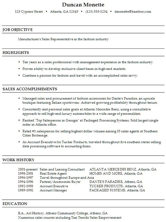Sales Rep resume latest sample that will inspire you to write a - leasing consultant resume