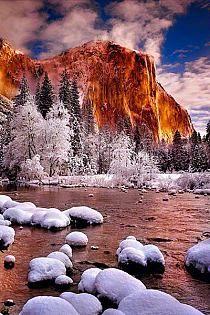 Winter Tower, Yosemite National Park, California