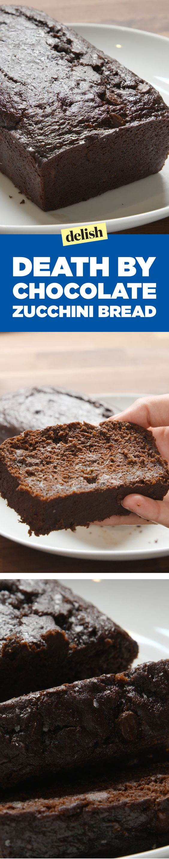 Death by chocolate zucchini bread is gonna slay your brunch. Get the recipe on Delish.com.