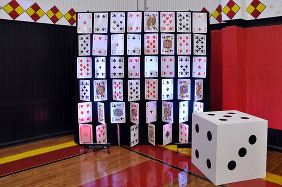 Poker decoration playing card backdrop so heat for Decoration poker