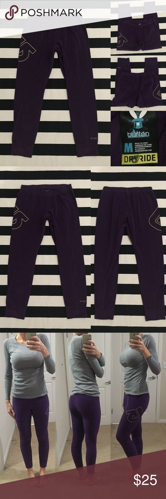 """[Burton] athletic crop sweatpants szS-M [Burton] athletic crop sweatpants szS-M •🆕listing •good used condition •plum/eggplant purple color with yellow screen logo (no wear/cracking) •may fit S-M, tag size M •length/inseam 24"""" •material 93% polyester 7% spandex, ultra soft stretchy fleece feel •subtle material changes from wash/wear, otherwise good condition •offers welcomed using the offer feature or bundle for the best discount• Burton Pants Ankle & Cropped"""