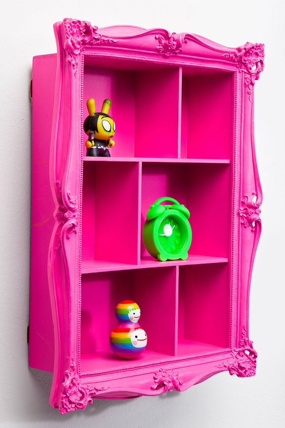 Baroque Wall Shelf in Pink at Urban Outfitters