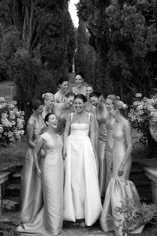 Emilia Wickstead's Wedding. She is a London-based designer. Her Clients-Lucy Middleton, Anya Hindmarch and India Hicks-all wore Wickstead to the Royal Wedding. I love her dress as well as all of her bridesmaids' dresses. She designed them all. View the gallery...so beautiful! Also, check out emilawickstead.com.