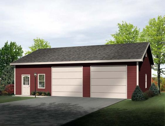 Garage plan 49185 cars boats and home for Drive through garage