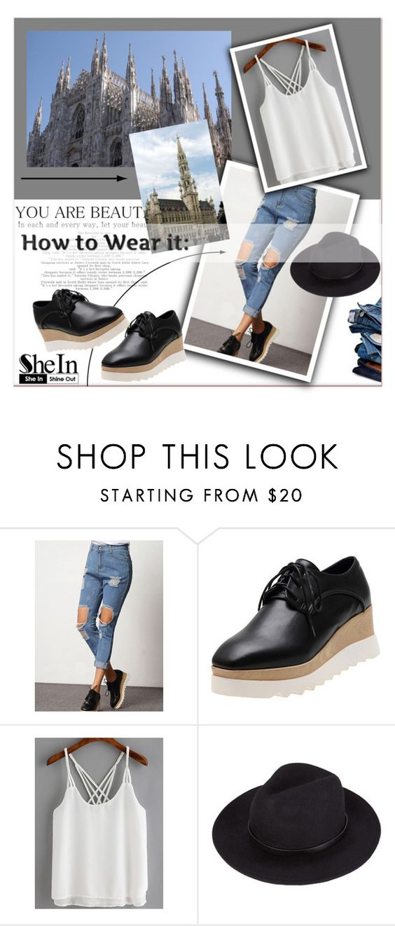 """""""She In"""" by janee-oss ❤ liked on Polyvore featuring Sheinside, polyvoreeditorial and shein"""