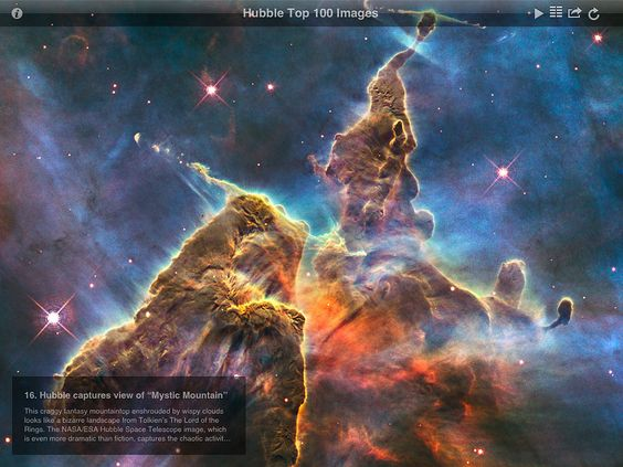 Screenshot from ESA/Hubble Top 100 Images v2.0 app | ESA/Hubble