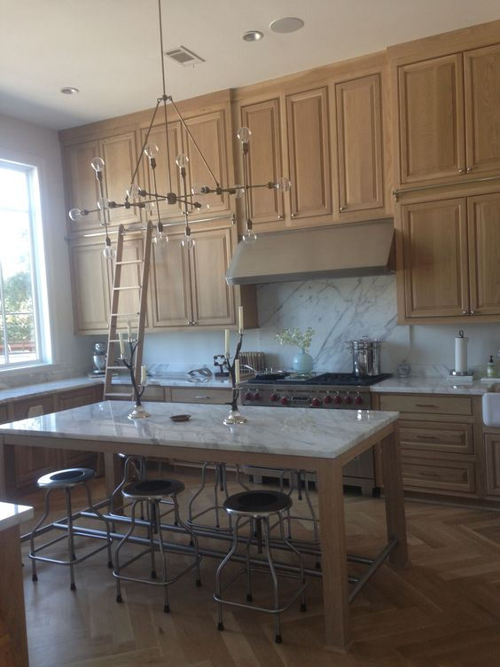 White oak cabinets with clear stain | Kitchen ideas