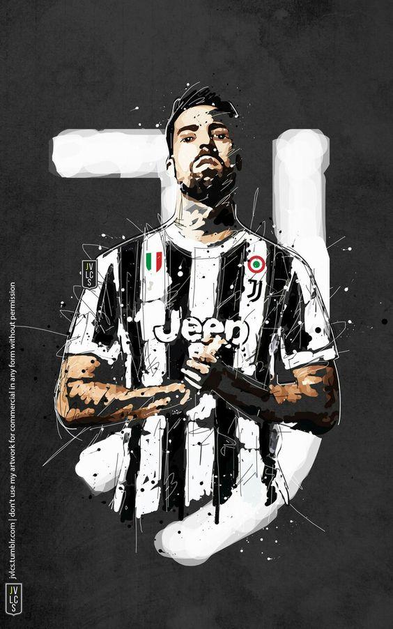 Sami Khedira Football Juventus Art Sepak Bola